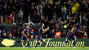 Gol de Cesc contra el Llevant. FOTO: LEX CAPARRS-FCB.