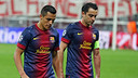 Alexis i Xavi, a Munic. FOTO: MIGUEL RUIZ-FCB.