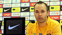 Iniesta in a Club press conference / PHOTO: ARXIU FCB