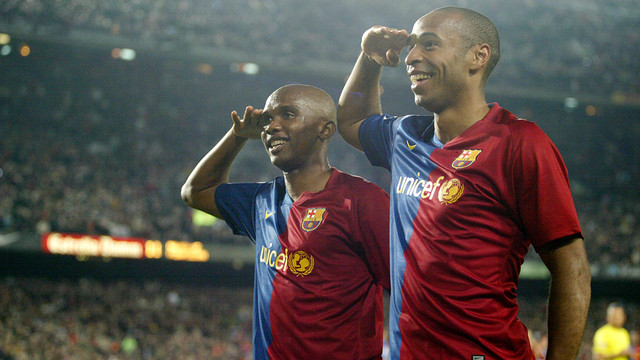 Eto'o i Henry / FOTO: ARXIU FCB