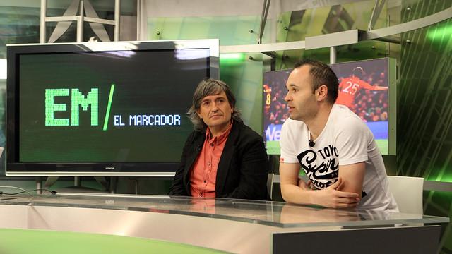 Andrés Iniesta, al programa 'El marcador' de Barça TV / FOTO: MIGUEL RUIZ-FCB