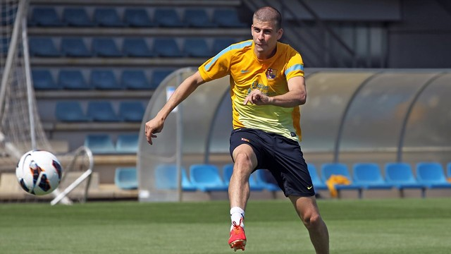 Gerard Piqué. Training session PHOTO: MIGUEL RUIZ