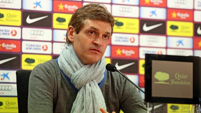 Tito Vilanova, in the press conference - PHOTO: MIGUEL RUIZ - FCB