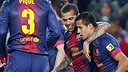 Alexis celebrates scoring against Betis / PHOTO: MIGUEL RUIZ  FCB