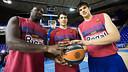 Jawai, Abrines and Todorovic / PHOTO: GERMÁN PARGA - FCB