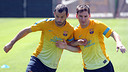 Javier Mascherano y Leo Messi, en el entrenamiento de este mircoles / FOTO: MIGUEL RUIZ - FCB