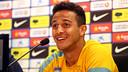Thiago, during the press conference. PHOTO: MIGUEL RUIZ-FCB.