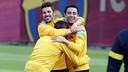 Villa, Xavi and Alexis / PHOTO: MIGUEL RUIZ - FCB