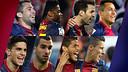 FC Barcelona's eight new La Liga champions