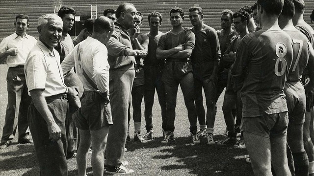 Photo of Franz Platko with his players