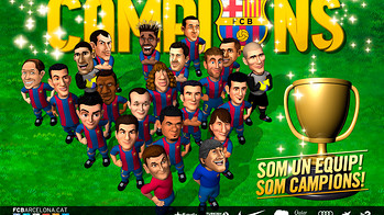 League Champions 2012/13 wallpaper with the Barça toons