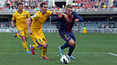 Deulofeu, en una jugada del partido. FOTO:MIGUEL RUIZ - FCB