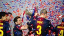 Celebrating the 2012/13 Liga title