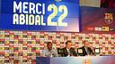 Abidal, Rosell et Zubizarreta. PHOTO: MIGUEL RUIZ - FCB