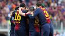 L'équipe atteint les 100 points / PHOTO: MIGUEL RUIZ - FCB