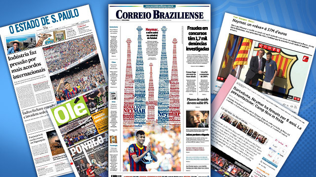 Global press focus on Neymar Jr's move to Barça