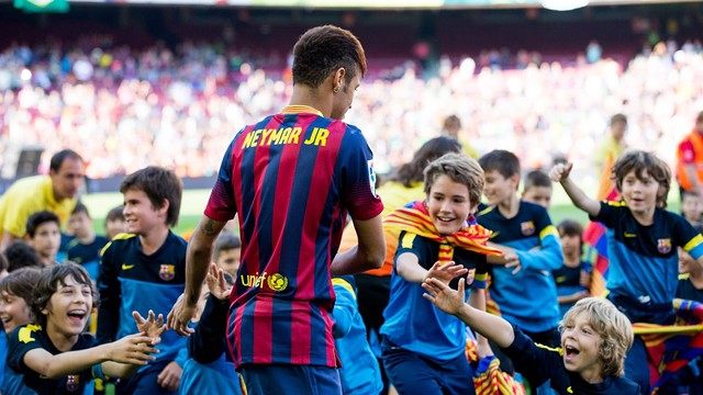 Neymar Jr, al Camp Nou / FOTO: MIGUEL RUIZ-FCB