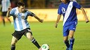 Messi in action against Guatemala / FOTO: www.afa.com