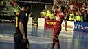 Victoria d'ElPozo Murcia davant el Barça Alusport en el segon partit de la final de la Lliga / FOTO: LNFS