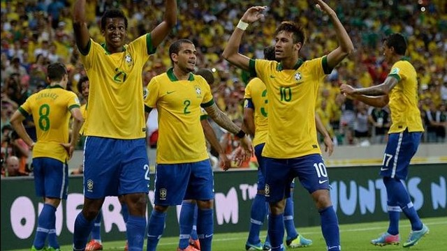 Neymar celebrates the win against Mexico. PHOTO: www.flickr.com/photos/neymaroficial