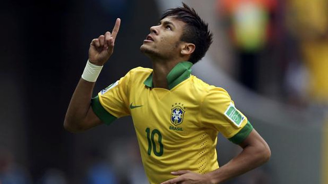 Neymar celebrating a goal PHOTO://www.flickr.com/photos/neymaroficial