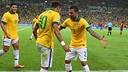 Neymar and Alves/ PHOTO: www.fifa.com