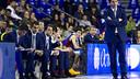 Agusti Julbé, on the bench. PHOTO: FCB Archive