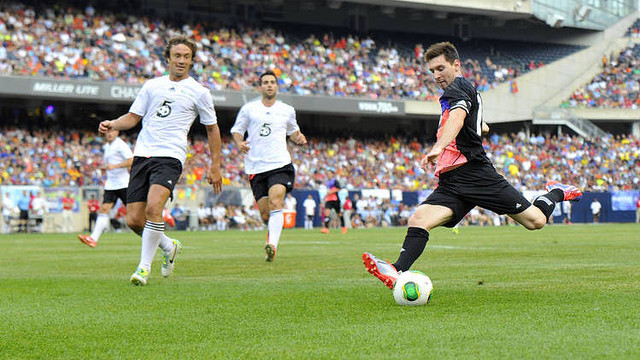 Messi, during the game in Chicago / PHOTO: AP / CLARÍN.COM