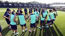 Primera xerrada de la temporada a la Ciutat Esportiva / FOTO: MIGUEL RUIZ-FCB