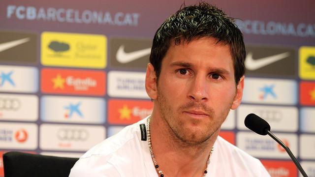 Messi, en una imatge d'arxiu. FOTO: Arxiu FCB