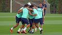 Els jugadors, durant l'entrenament. FOTO: MIGUEL RUIZ - FCB