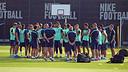 L'entrenament d'aquest dilluns al matí. FOTO: MIGUEL RUIZ-FCB.