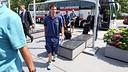 Messi, en l'arribada de l'equip a l'hotel / FOTO: MIGUEL RUIZ-FCB