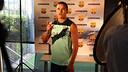 Alexis, durant l'enregistrament de l'spot del Gamper. FOTO: MIGUEL RUIZ-FCB.