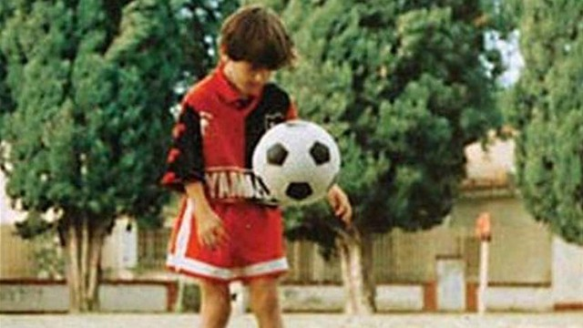 Messi, amb Newell's Old Boys