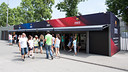 The six ticket machines and the information point on the Boulevard / PHOTO: GERMÁN PARGA - FCB