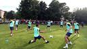 El Barça s'ha tornat a entrenar a Oslo / FOTO: MIGUEL RUIZ - FCB