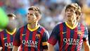 Messi and Sergi Roberto in Oslo. PHOTO: MIGUEL RUIZ-FCB.
