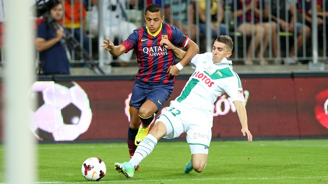 Alexis Sánchez played the most minutes in Poland / PHOTO: MIGUEL RUIZ-FCB