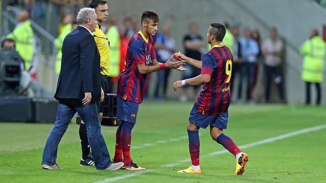 Neymar, against Lechia Gdansk. PHOTO: MIGUEL RUIZ-FCB.