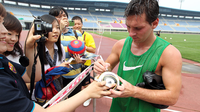 Leo Messi, during the last Barça trip to Asia / PHOTO: FCB ARCHIVE