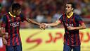 Neymar Jr i Pedro han fet quatre dels set gols a Bangkok / FOTO: MIGUEL RUIZ-FCB