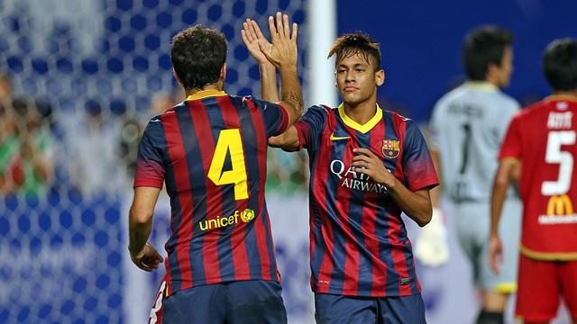 Neymar se estrenó como goleador azulgrana / FOTO: MIGUEL RUIZ — FCB