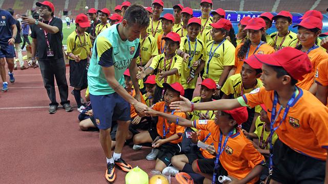Neymar, in Kuala Lumpur. PHOTO: MIGUEL RUIZ-FCB.