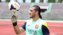 Pinto, durant un entrenament / FOTO: MIGUEL RUIZ-FCB