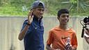 Neymar, with Syafiq / PHOTO: MIGUEL RUIZ-FCB