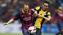 Iniesta in the match against the Malaysia XI team / PHOTO: MIGUEL RUIZ - FCB