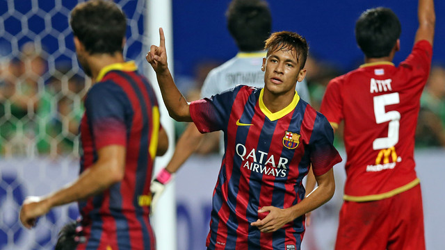 Neymar's first goal for Barça, in Thailand. PHOTO: MIGUEL RUIZ-FCB.
