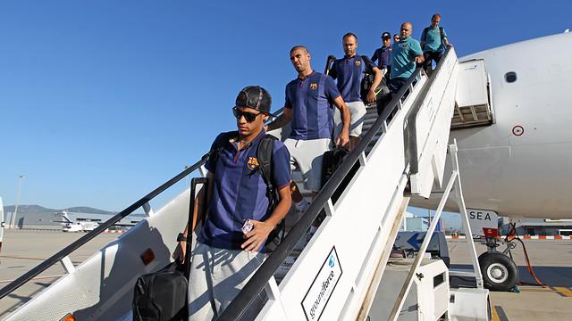 El equipo ha aterrizado en Barcelona / FOTO: MIGUEL RUIZ — FCB