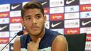 Jonathans dos Santos, en roda de premsa aquest dijous / FOTO: MIGUEL RUIZ - FCB